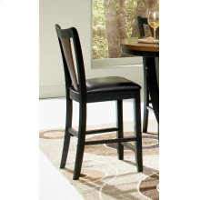 Boyer Transitional Amber and Black Counter-height Chair