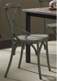 X Back Side Chair - Green Product Image