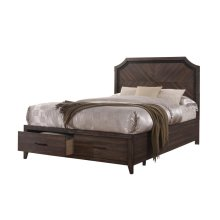 Richmond Rustic Dark Grey Oak Queen Bed