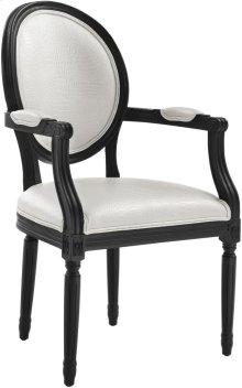 Philip White Croc Arm Chair