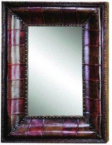 "Leather Mirror -39"""