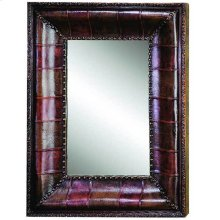Leather Mirror -39""