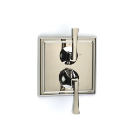 Dual Control Thermostatic with Volume Control Valve Trim Hudson (series 14) Polished Nickel
