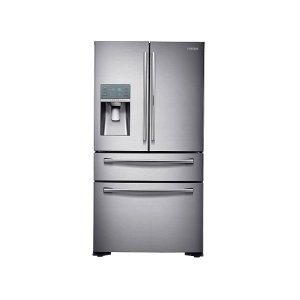 22 cu. ft. Food Showcase Counter Depth 4-Door French Door Refrigerator in Stainless Steel -
