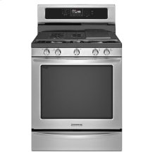 30-Inch 5-Burner Gas with Griddle Freestanding Range, Architect® Series II - Stainless Steel ON ROCH FLOOR