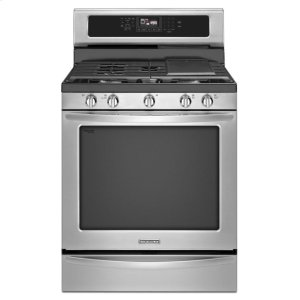 KitchenAid30-Inch 5-Burner Gas With Griddle Freestanding Range, Architect® Series Ii - Stainless Steel