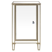 Mirrored Wine Cabinet with Gold Trim