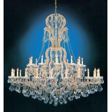Maria Theresa 37 Light Clear Crystal Gold Chandelier