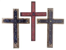 Wood/leather Cross