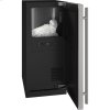 """U-Line 3 Class 15"""" Nugget Ice Machine With Stainless Solid Finish And Field Reversible Door Swing (115 Volts / 60 Hz)"""