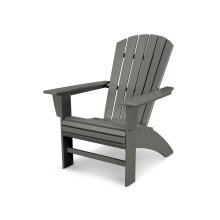 Slate Grey Nautical Curveback Adirondack Chair