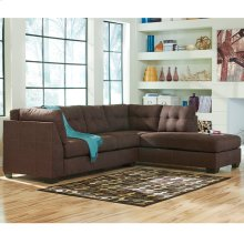 Benchcraft Maier Sectional with Right Side Facing Chaise in Walnut Microfiber [FBC-2349RFSEC-WAL-GG]