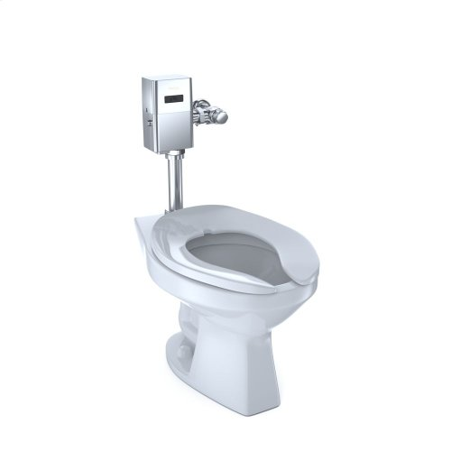 Commercial Flushometer High Efficiency Toilet, 1.28 GPF, Elongated Bowl - CeFiONtect - Cotton