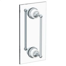 "Venetian 12"" Double Shower Door Pull/ Glass Mount Towel Bar"