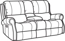 Miles Fabric Gliding Reclining Loveseat with Console
