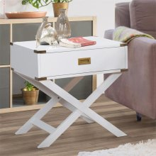GREY SIDE END TABLE