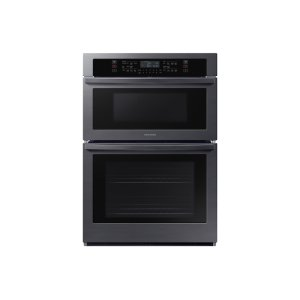 "Samsung30"" Microwave Combination Wall Oven in Black Stainless Steel"