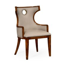 Greek Revival Biedermeier Mahogany Armchair