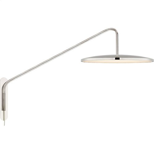 Visual Comfort PB2020PN Peter Bristol Dot LED 16 inch Polished Nickel Articulating Wall Sconce Wall Light