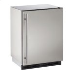 """u-line1000 Series 24"""" Outdoor Refrigerator With Stainless Solid Finish and Field Reversible Door Swing"""