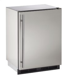 "1000 Series 24"" Outdoor Refrigerator With Stainless Solid Finish and Field Reversible Door Swing (115 Volts / 60 Hz)"