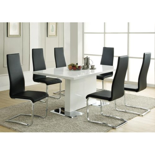 Nameth Contemporary White Dining Table
