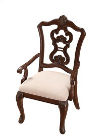 Pierced Back Arm Chair W/uph Seat Rta Cherry