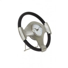 Clock 26x5 cm STEERING antique lead-black
