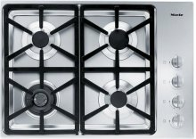 KM 3464 G Gas cooktop with a dual wok burner for particularly wide ranging burner capacity.