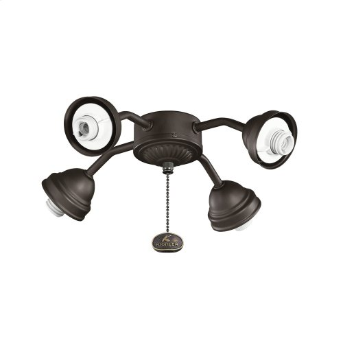 Bent Arm Fitter 4 Light Satin Natural Bronze