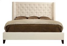 """Queen-Sized Maxime Wing Bed (68-1/2"""" H) in Espresso"""