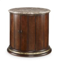 Barrel Commode With Brown Marble Top Product Image