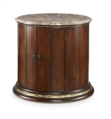 Barrel Commode With Brown Marble Top