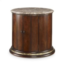 Town & Country Barrel Commode With Brown Marble Top