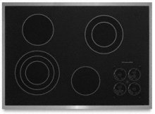"4 Elements Premium Cooktop Surface with Subtle Watermark Electric 30"" Width Architect® Series II"
