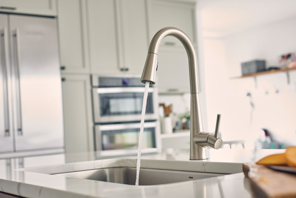Hidden · Additional Sleek Spot Resist Stainless One Handle High Arc  Pulldown Kitchen Faucet