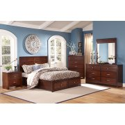 6 Piece Bedroom Includes: Queen HB/FB & Rails, Dresser, Mirror & Chest Product Image