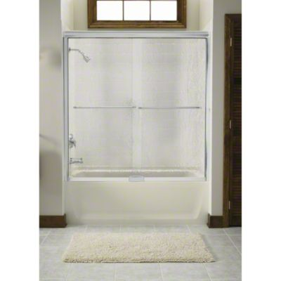 """Finesse™ Sliding Bath Door with Quick Install™ Mounting System - Height 55-3/4"""", Max. Opening 59-1/4"""" - Deep Bronze"""