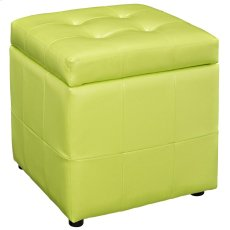 Volt Storage Upholstered Vinyl Ottoman in Light Green Product Image