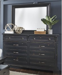 Drawer Dresser - Weathered Black Finish