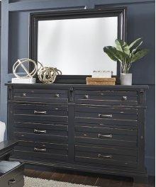 Drawer Dresser - Weathered Black Finish
