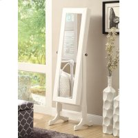 Casual White Jewelry Cheval Mirror Product Image