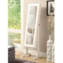 Casual White Jewelry Cheval Mirror