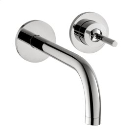 Chrome Single lever basin mixer for concealed installation wall-mounted with spout