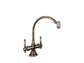 "High-Arc Kitchen Set, 13-1/4"" Spout Height - Antique Copper"