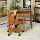 Deluxe Wood Banker's Chair With Wood Seat In Fruit Wood Finish Product Image