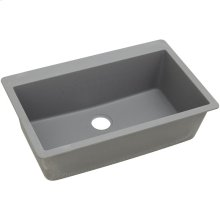 "Elkay Quartz Classic 33"" x 20-7/8"" x 9-7/16"", Single Bowl Drop-in Sink, Greystone"