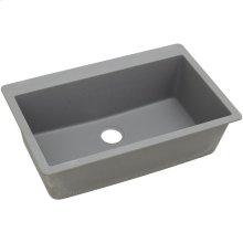 "Elkay Quartz Classic 33"" x 20-7/8"" x 9-7/16"", Single Bowl Drop-in Sink, Greystone"