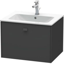 Vanity Unit Wall-mounted, Graphite Matt (decor)