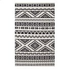 Haku Geometric Moroccan Tribal 5x8 Area Rug in Black and White Product Image